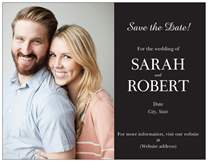 vistaprint save the dates sample