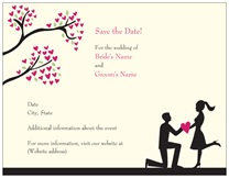 vistaprint save the date silhouette
