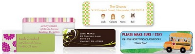 sample address label designs from vistaprint