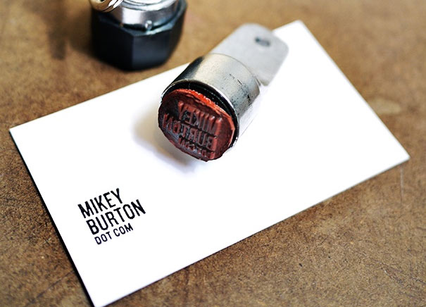 Creative Idea 5 Awesome Diy Rubber Stamped Business Card Designs