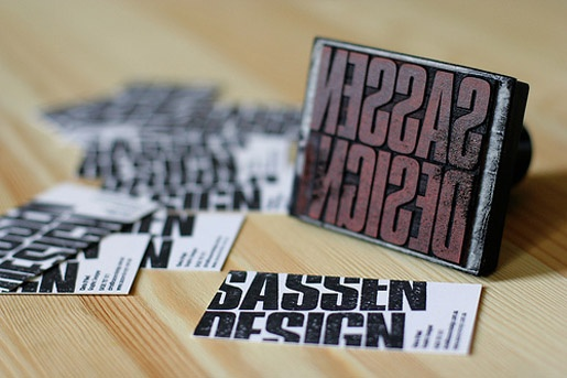 Creative idea 5 awesome diy rubber stamped business card designs stamped business card diy reheart Choice Image