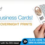 Go Mini or Go Home: Mini Business Cards – 25% Off at Overnight Prints