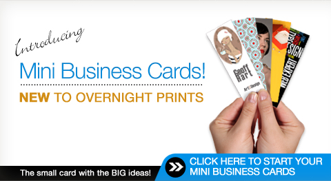 mini business cards overnight prints - Overnight Business Cards