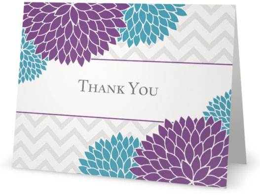 9 stylish floral thank you notes custom card designs with flowers
