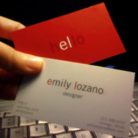 very simple business cards