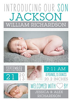 birth announcement boy