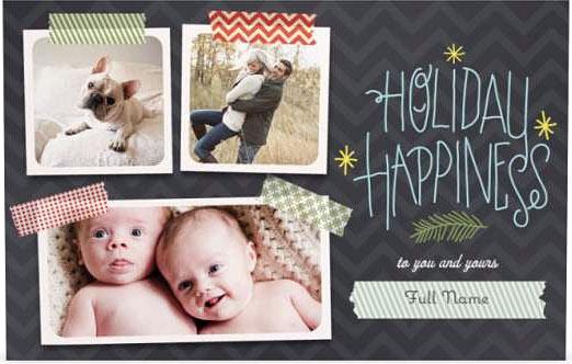 multi photo holiday cards vistaprint - Vistaprint Holiday Cards