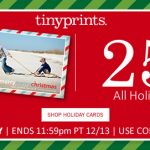 Tiny Prints Coupon: 25% Off Holiday Cards + Free Shipping! Friday, 12-13-13