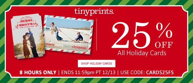 tiny prints coupon 25 holiday cards