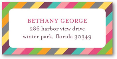 address labels colorful border tiny prints