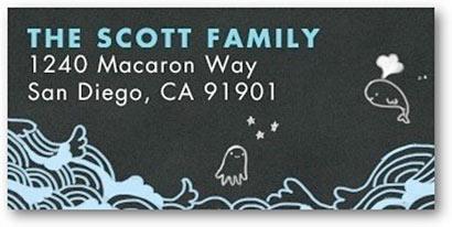 address labels ocean theme tiny prints