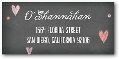 address labels with hearts tiny prints