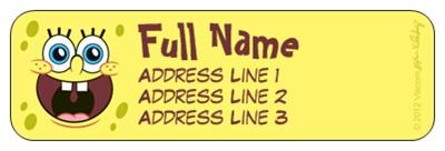 cheap sponge bob address labels vistaprint