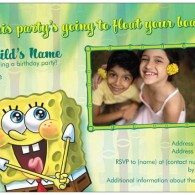 sponge bob birthday invites from vistaprint with photo