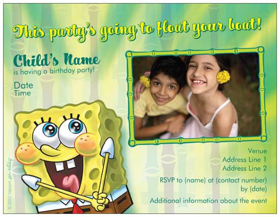 birthday invites sponge bob vistaprint Custom Printing Deals – Vista Print Birthday Party Invitations