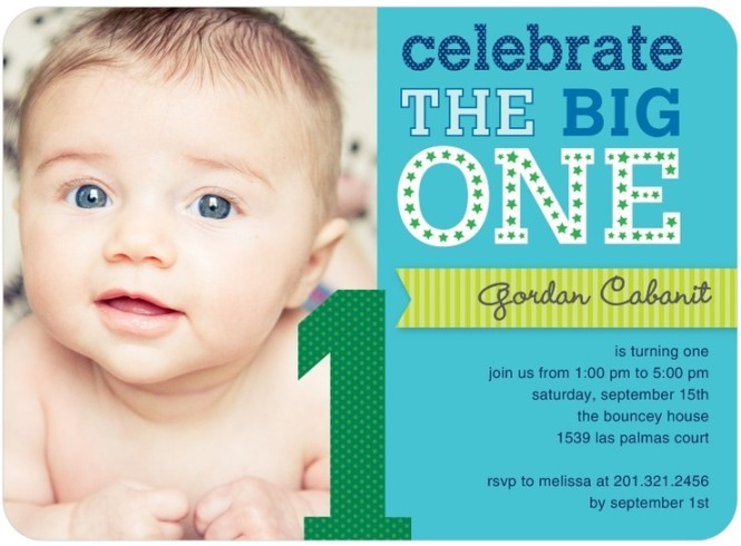 first birthday party invites for a boy - tiny prints