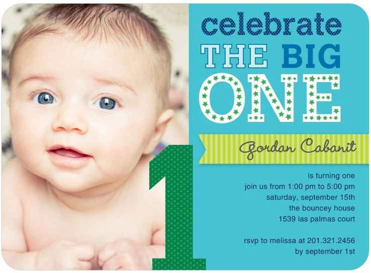 First Birthday Party Invites For A Boy