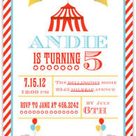 mixbook birthday invitations circus theme
