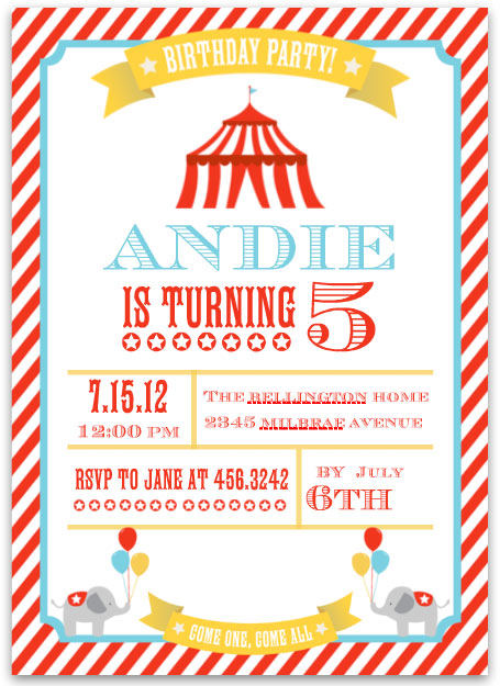 mixbook birthday invites circus theme Custom Printing Deals