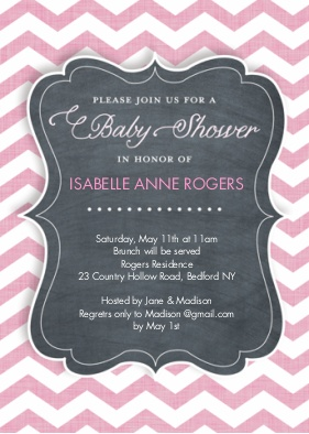baby shower girl snapfish chevron_stripe