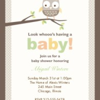 baby shower snapfish cartoon owl theme