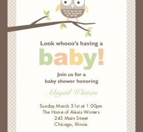 baby shower snapfish owl custom printing deals