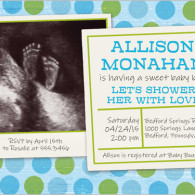baby blue shower ultrasound shutterfly