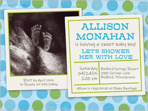 Baby shower ultrasound shutterfly custom printing deals personalized baby shower invitations with ultrasound picture filmwisefo