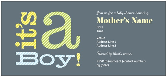 its a boy baby shower or birth announcement from vistaprint