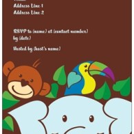 baby shower invites jungle theme vistaprint