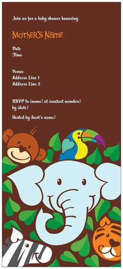 baby shower invites jungle vistaprint  custom printing deals, Baby shower