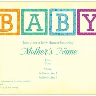 baby shower invites baby blocks vistaprint