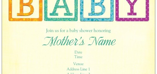 baby shower invites baby blocks vistaprint  custom printing deals, Baby shower