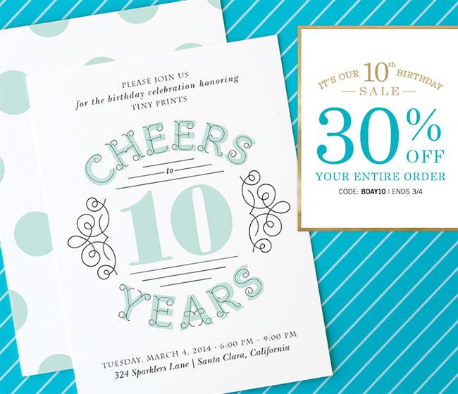 Tiny print coupon code