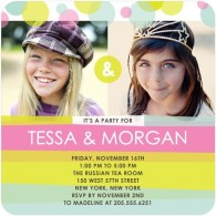 twins bday invites tiny prints
