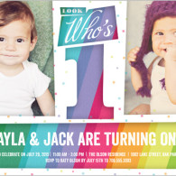 twins first birthday invite shutterfly