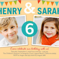 twins birthday invites 2 photos from shutterfly.com