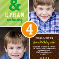 twin boy masculine bithday invites