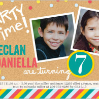 boy or girl twins birthday invite shutterfly