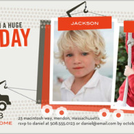 twins birthday invites tow truck
