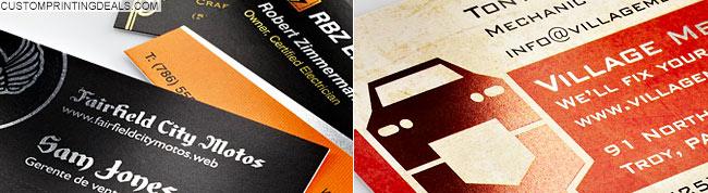 vistaprint_metallic finish business cards