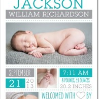 baby boy announcement collage tiny prints
