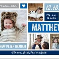 baby boy announcements blue tiny prints
