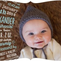 baby boy announcement chalkboard tiny prints