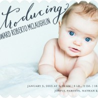baby boy announcement tiny prints