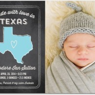 baby boy announcement tiny prints home state