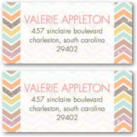 address labels tiny prints chevron
