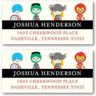 address labels tiny prints super heroes