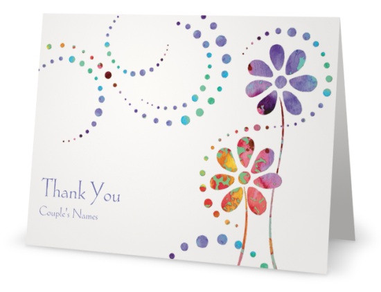 Vistaprint thank you card flowers custom printing deals