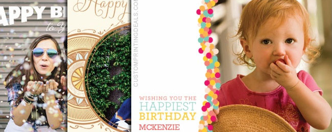 Free Printable Birthday Cards: 5×7 Personalized Photo Cards